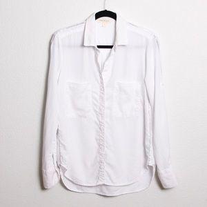Anthropologie Cloth & Stone Buttondown Shirt White